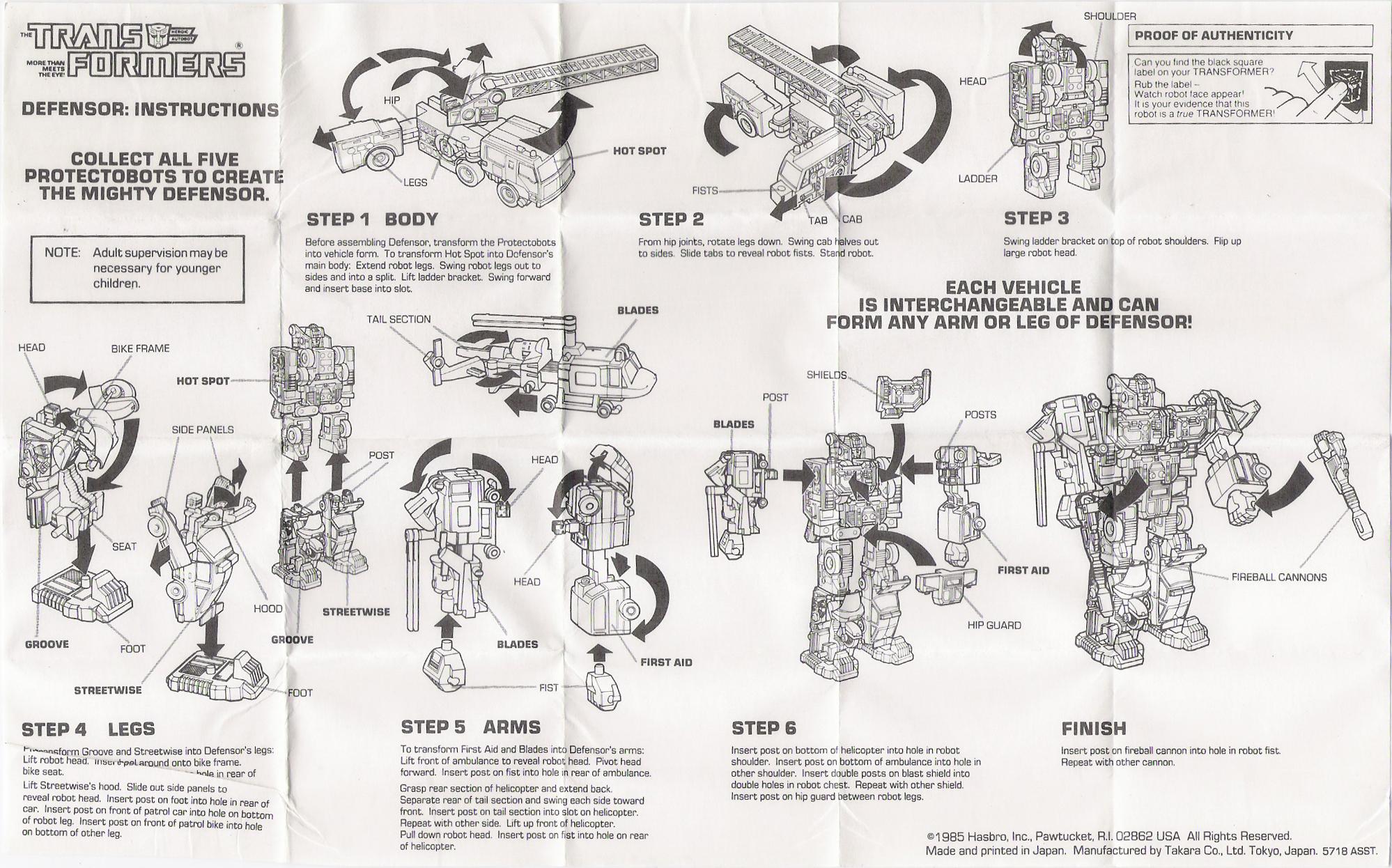 Protectobots (Defensor, G1) Defensor (Transformers, G1