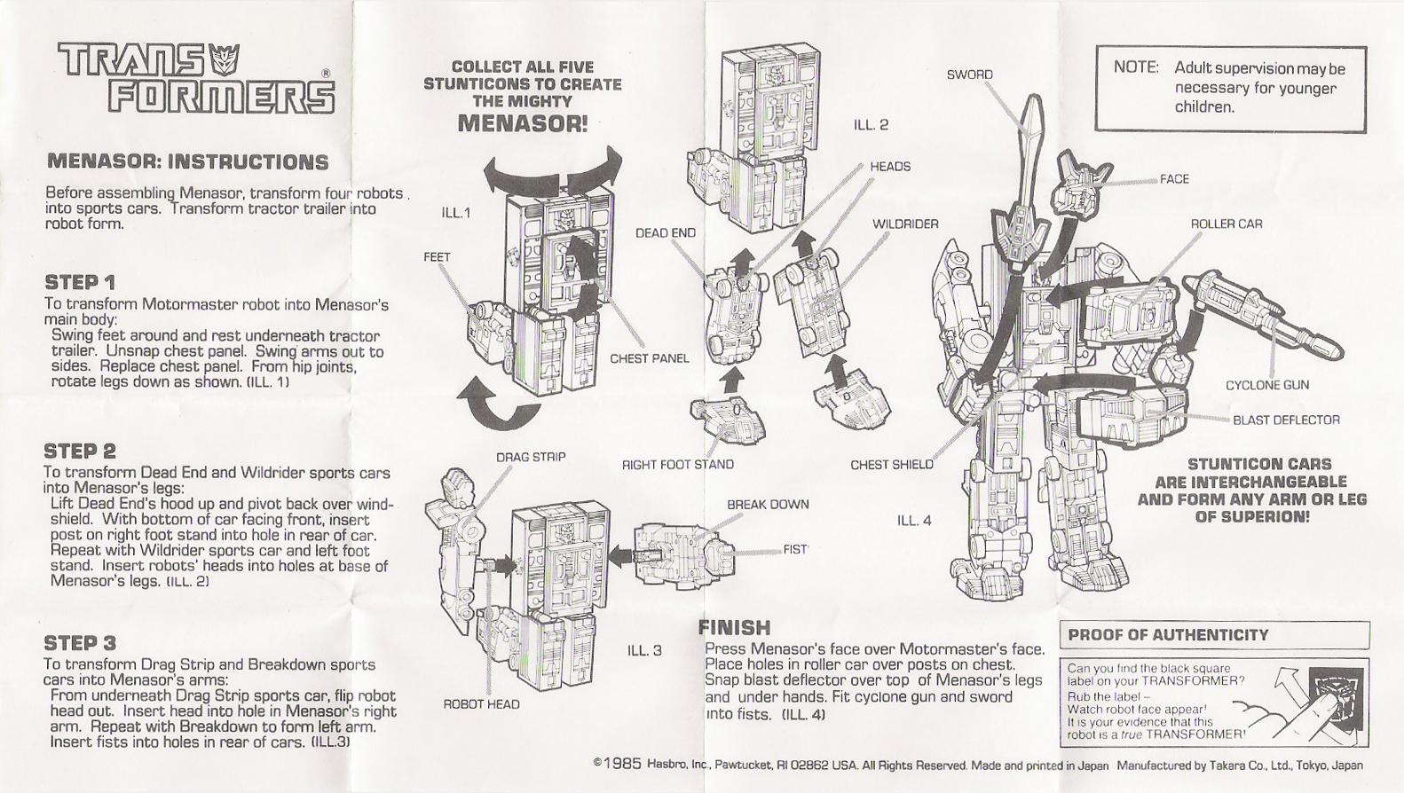 Stunticons (Menasor) Menasor (Transformers, G1, Decepticon