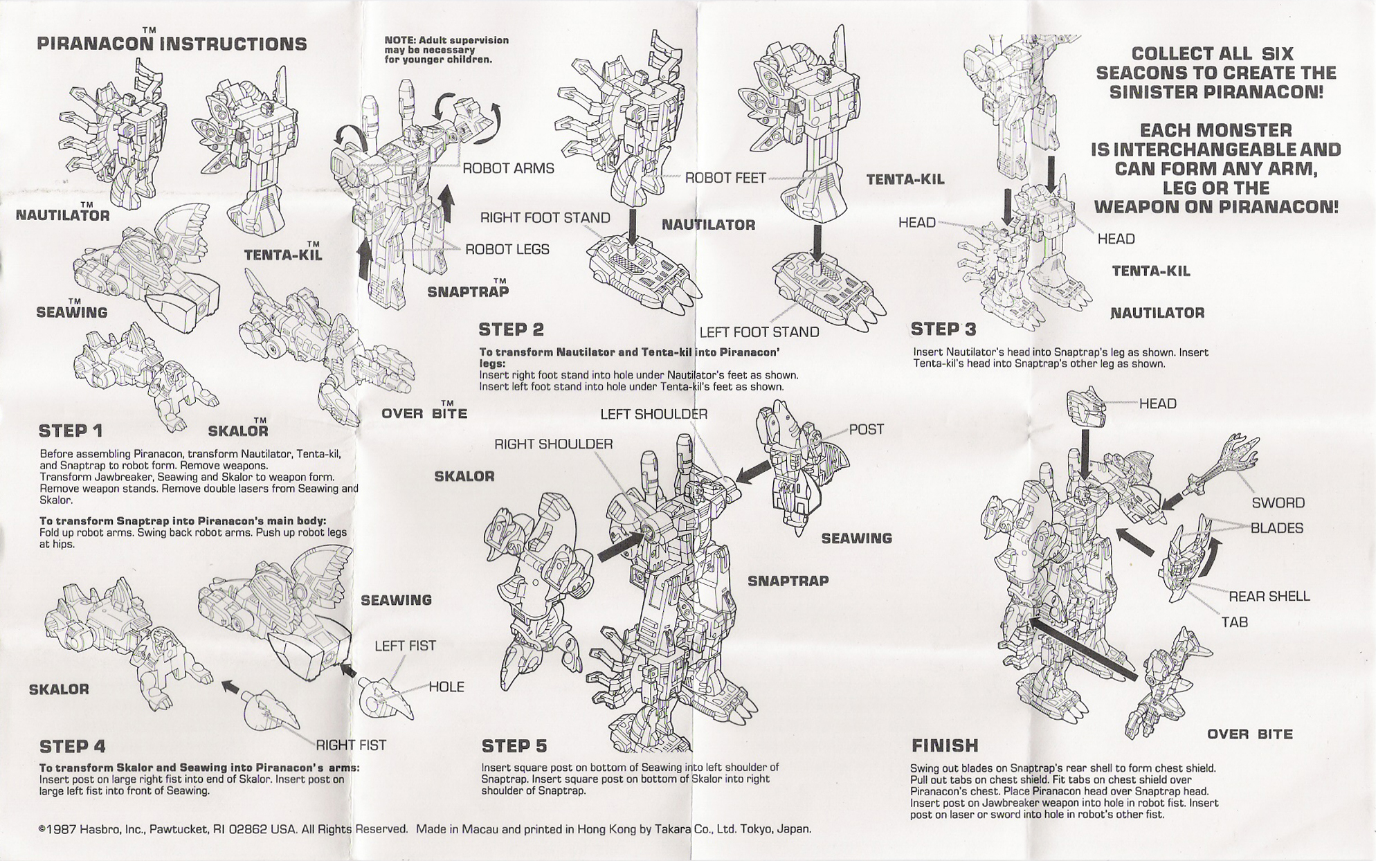 Seacons (Piranacon) Piranacon (Transformers, G1
