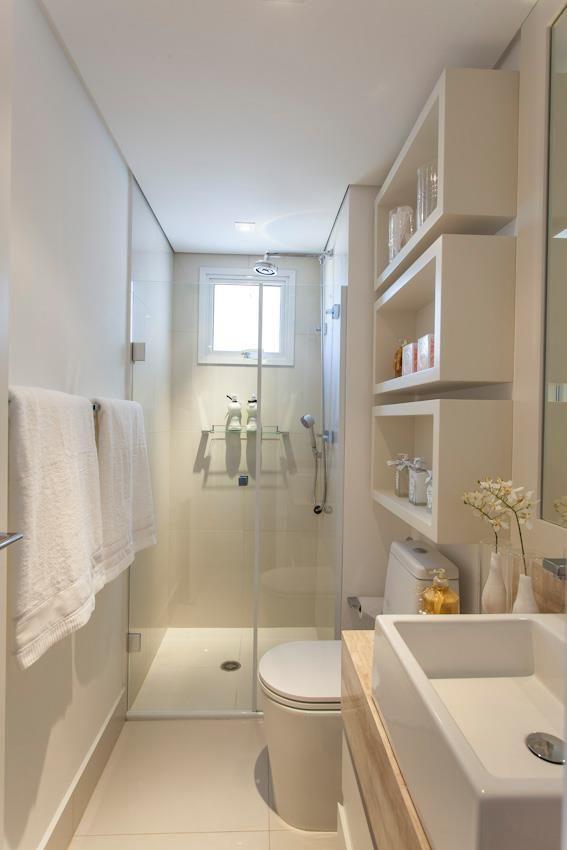 mais espaco para organizar Banheiro Pequeno Decorado (2)