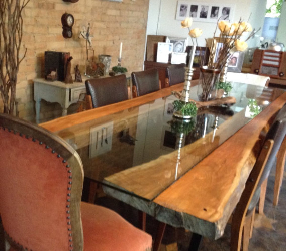 Base de madeira para mesa de jantar maci a r stica quadrad for Imagenes de mesas rusticas