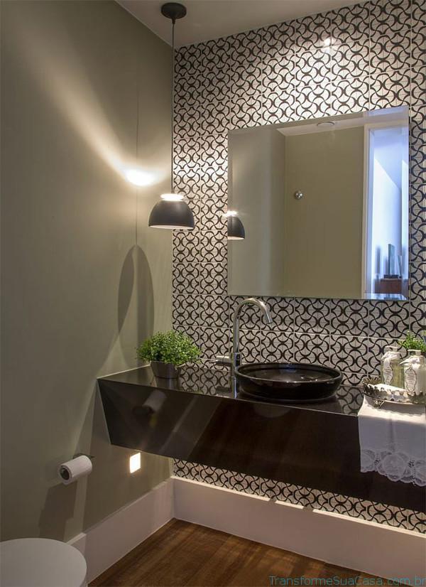 Papel de parede para lavabo como usar for Lavabos modernos