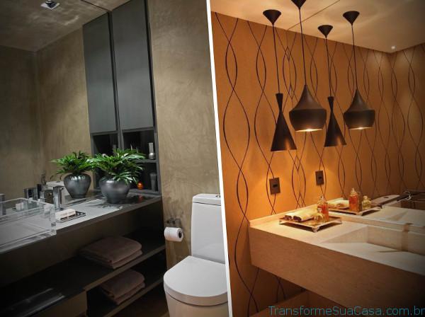 Papel de parede para lavabo – Como usar 6 dicas de decoração como decorar como organizar