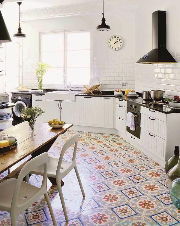 Piso para cozinha como escolher - Carrelage cuisine ancien ...