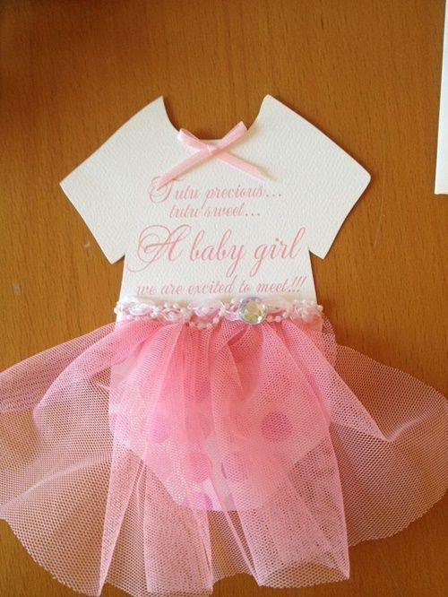 Convite de chá de bebê bailarina