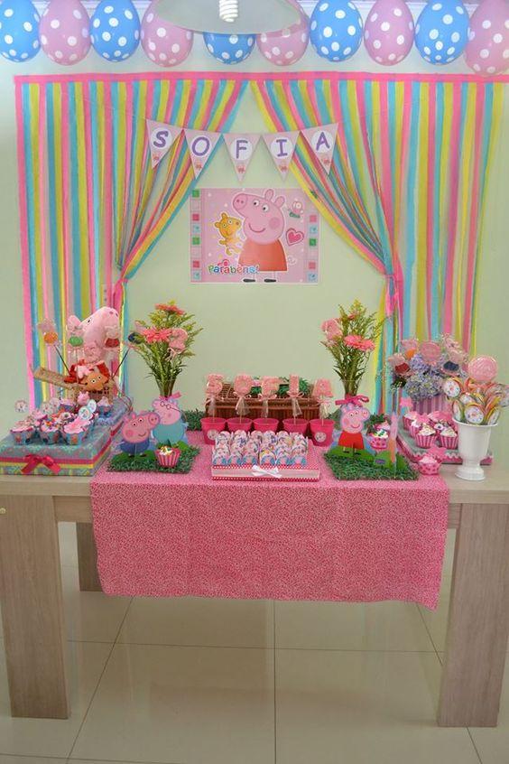 As cores da festa infantil Peppa Pig