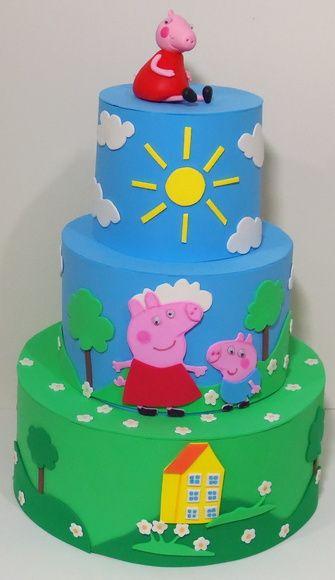 Bolo da Peppa Pig decorado
