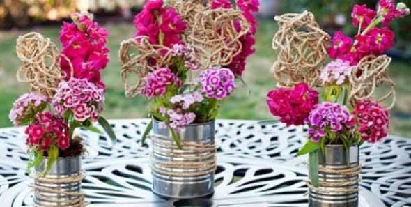 arranjos de flores monocromáticos