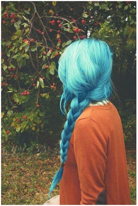 Cores de cabelo feminino azul