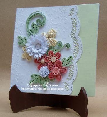 quilling cartão