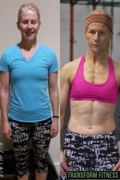 Mary before and after gym results
