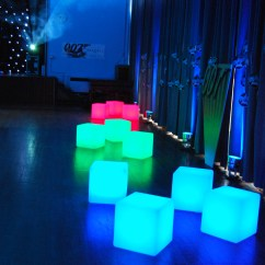 Led Table And Chairs Wrought Iron Rocking Furniture Hire Wireless Colour Changing Seats