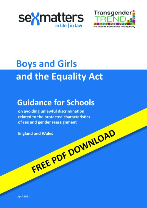 Boys and Girls and the Equality Act – Guidance for Schools (England and Wales Version)