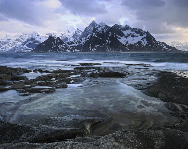 Serated Edge  Vareid Lofoten Norway  Transient Light