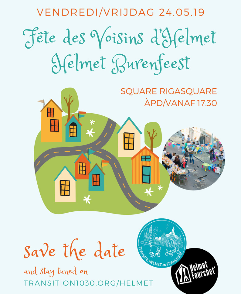 SAVE THE DATE – 24.05 – Fête des Voisins d'Helmet Burenfeest