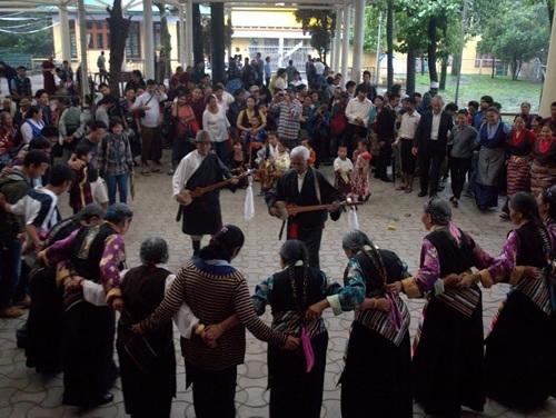 Dance During the Dalai Lama's Birthday in Mcleod Ganj, India