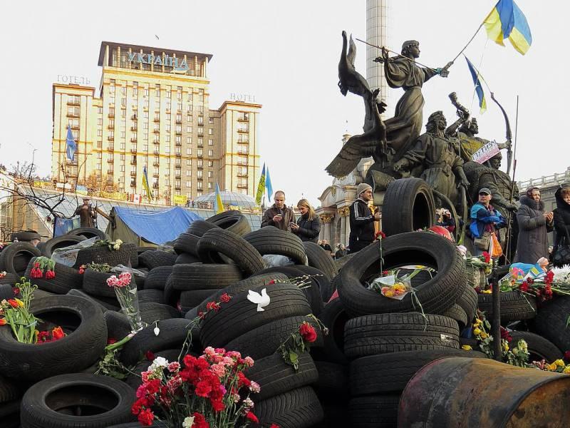 Minnesmarkering på Maidan-plassen, 2014