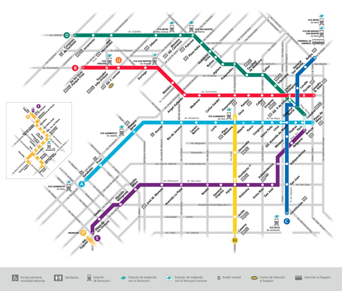 Transit Maps Official Map Subte Buenos Aires Argentina 2011