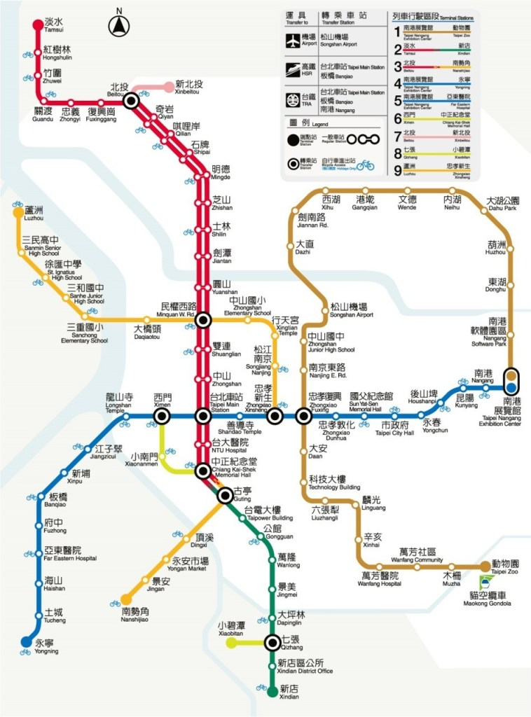 Transit Maps Official Map Taipei Mrt Taiwan 2011