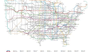 Us Highways As A Subway Map.Transit Maps New Map Project Highways Of The United States