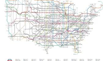 Us Highway As A Subway Map.Transit Maps