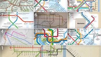 Post 911 Subway Map.Transit Maps Historical Map Detail Of New York Subway Map Post 9 11