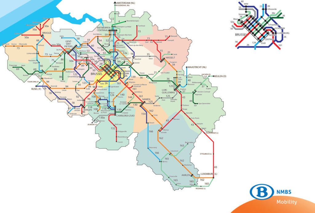 Train Map Belgium Transit Maps: Official Map: Belgian Railways Network, 2012