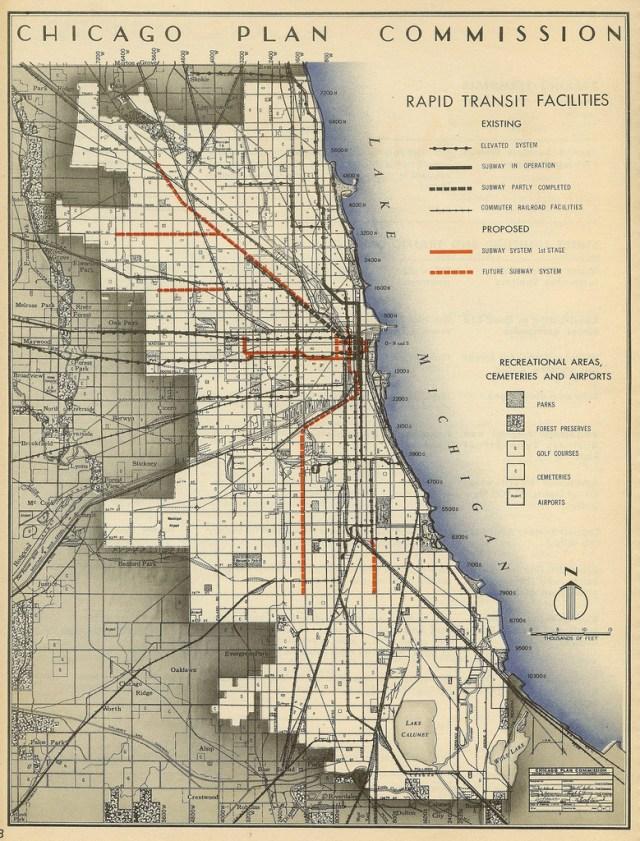 Transit Maps: Historical Map: Chicago Plan Commission ... on map of chicago restaurants, map of chicago rail system, map of mbta system, map of chicago metro, map of patco system, map of chicago river system, map of la metro system, map of chicago train, map of chicago world's fair, chicago train system, map of chicago metropolitan area, map of chicago university campus, map of chicago transportation system, map of chicago metra system,