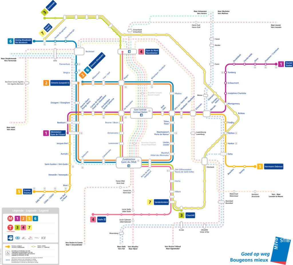 Transit Maps: Official Map: Brussels Metro, Tram and Rail ...