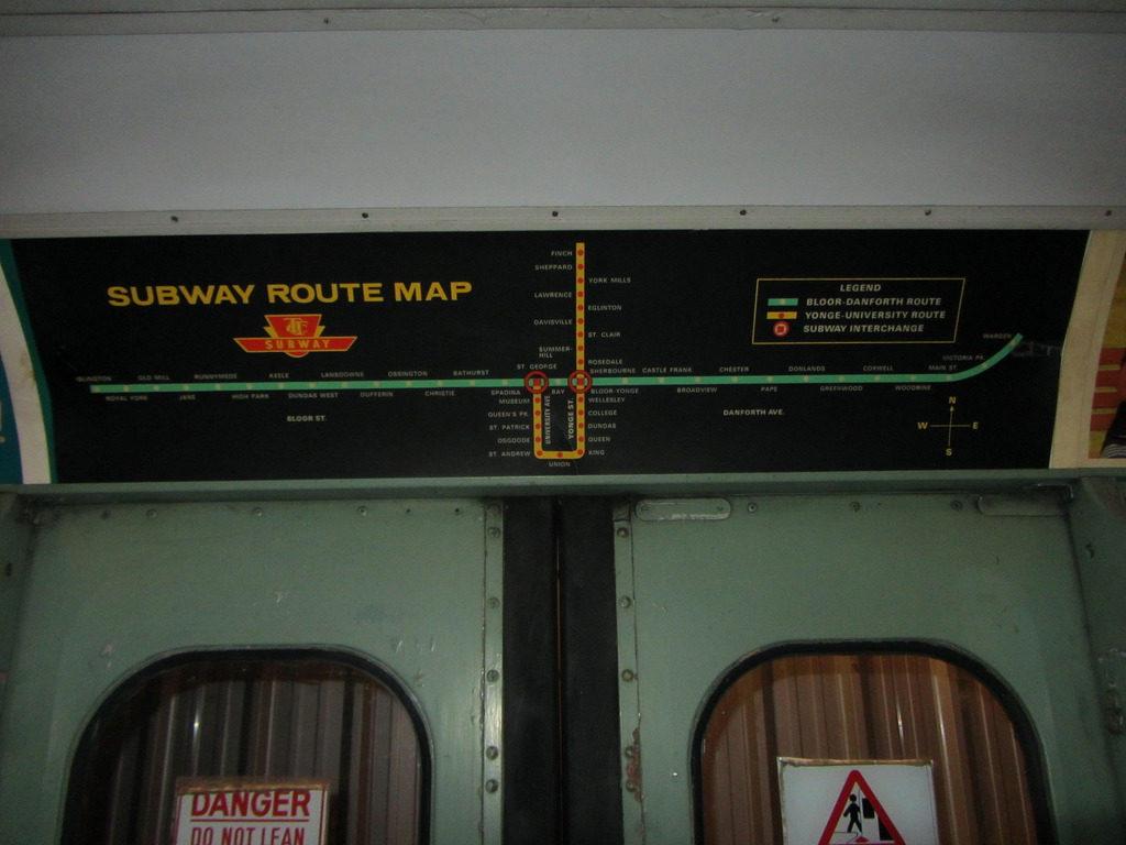 Bloor Danforth Subway Map.Transit Maps Photo Historical Map Ttc Subway Route Map C 1975 1977