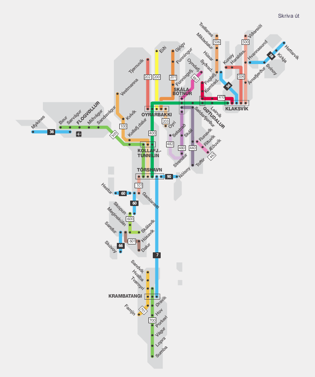 Transit Maps: Submission – Official Map: Bus and Ferry Network of ...