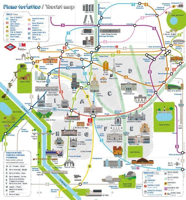 Transit Maps Official Map Madrid Metro Tourist Map 2013