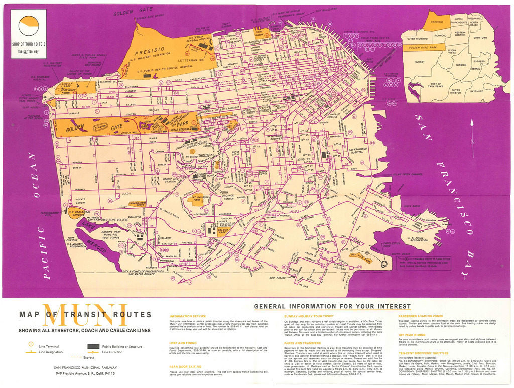 Transit Maps: Historical Map: San Francisco Muni Transit ...
