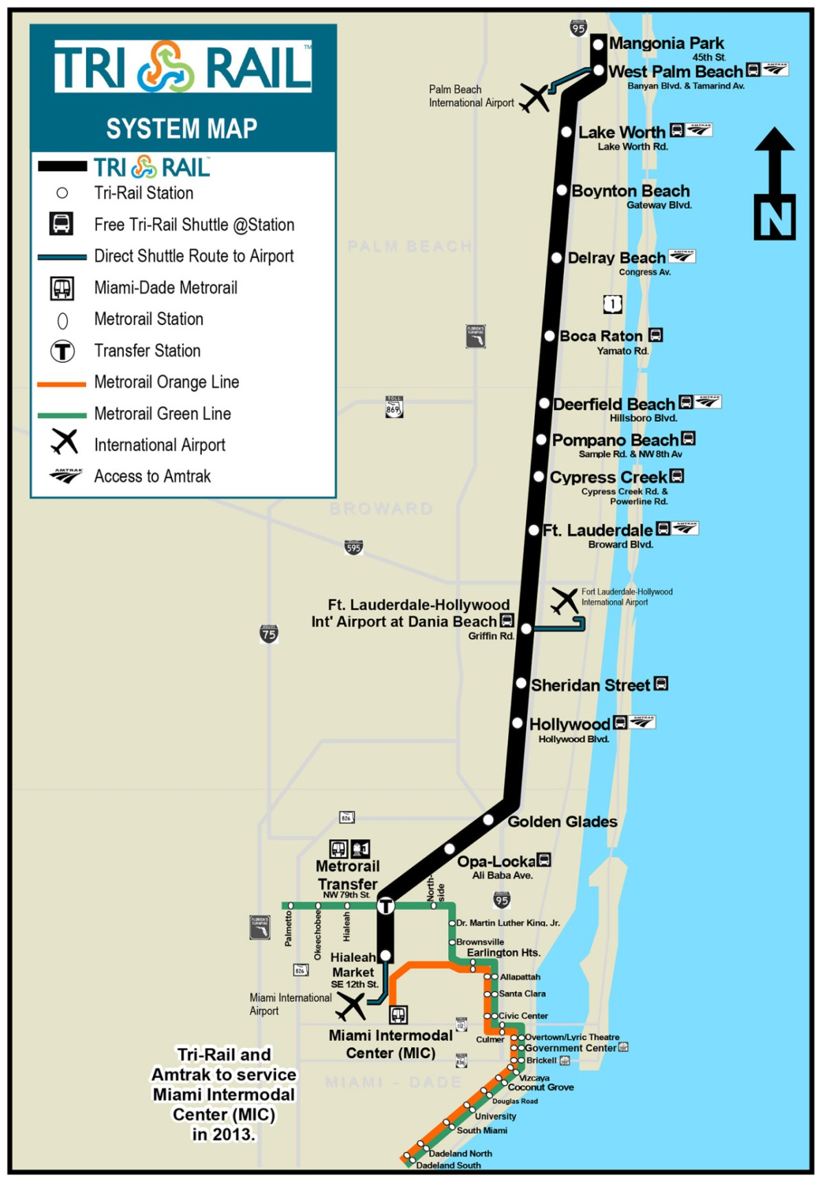 transit maps: official map: tri-rail commuter rail, southern