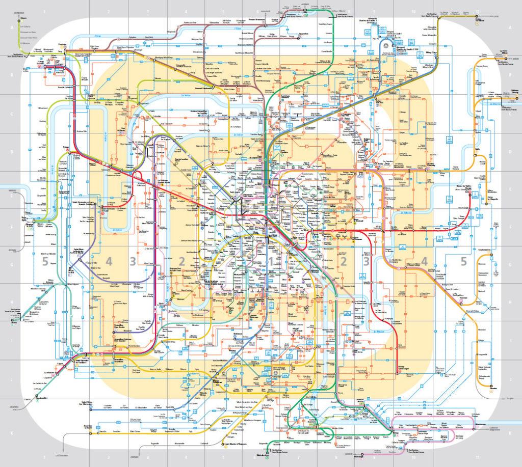 Rail Map Of France.Transit Maps Official Map Ile De France Regional Transit Map 2014