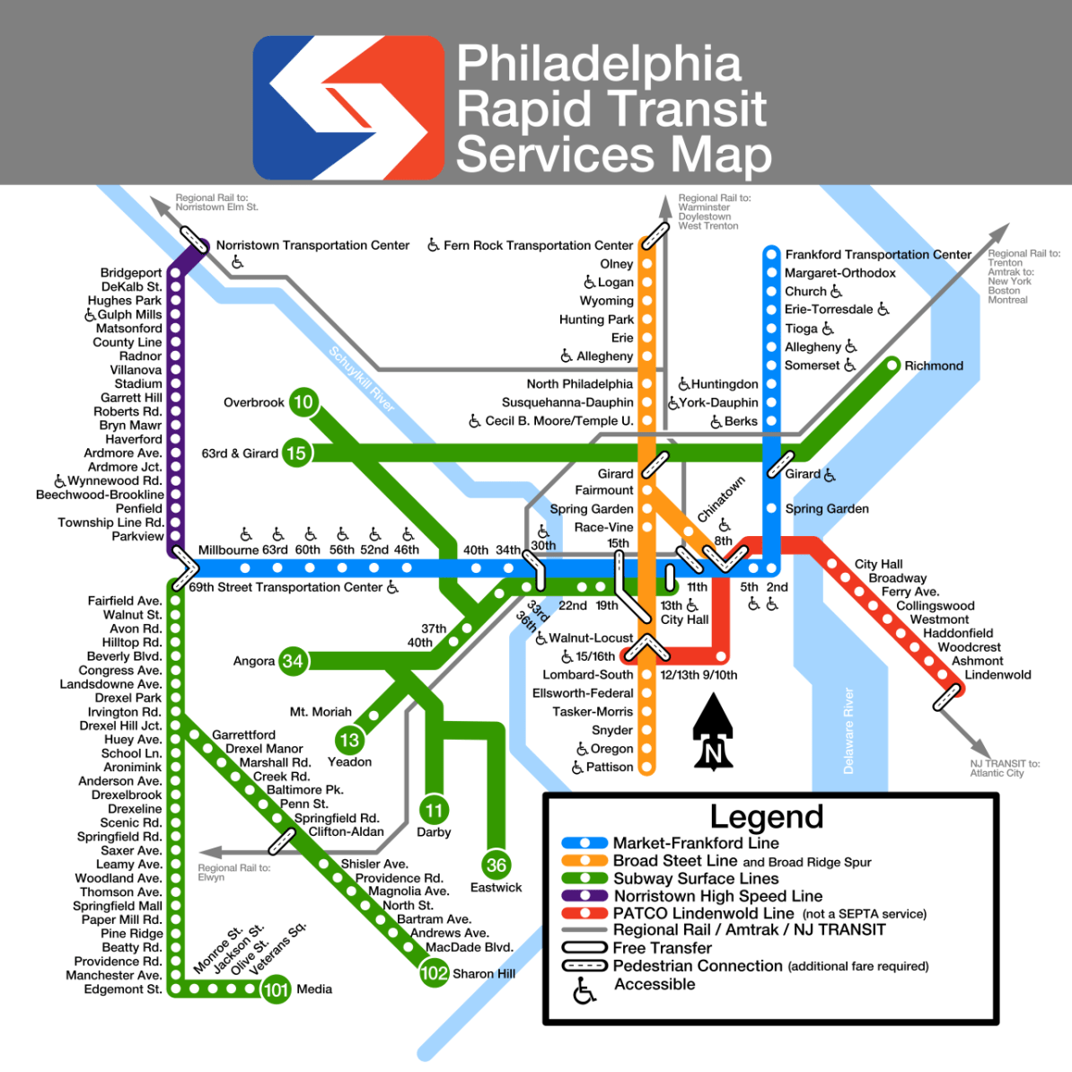 Philadelphia Subway Map Patco.Transit Maps Philadelphia
