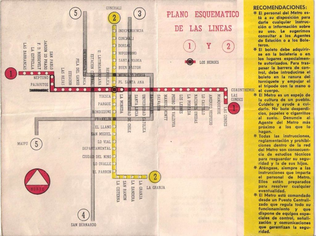 La Subway Map Year Opened.Transit Maps Submission Historical Map Informational Leaflet