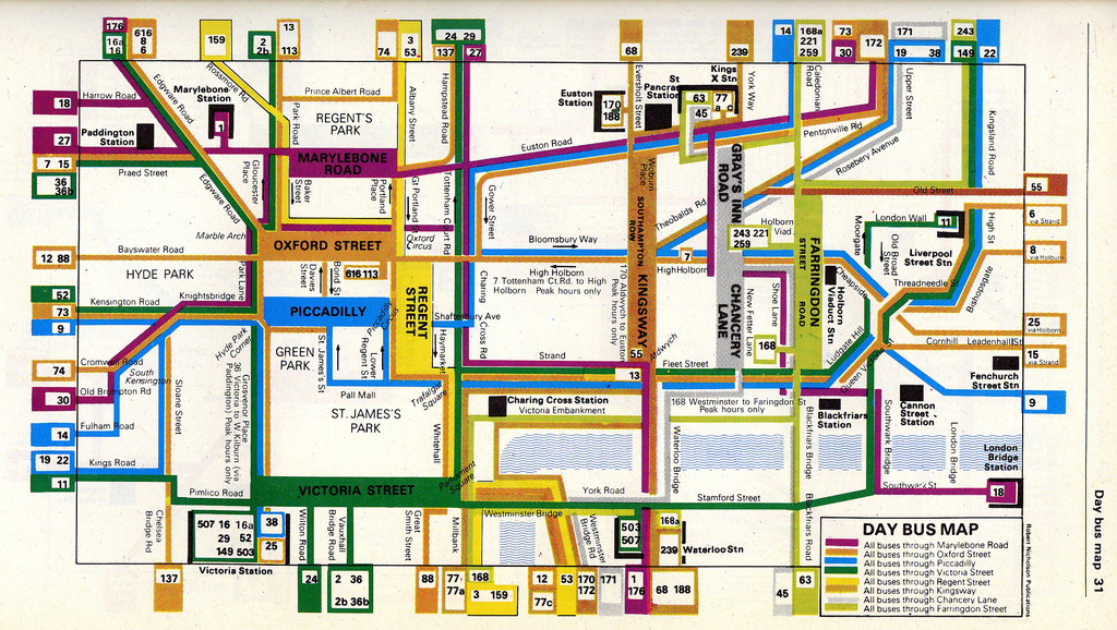 London Map Guide.Transit Maps Historical Map Nicholson S Complete London Guide Bus