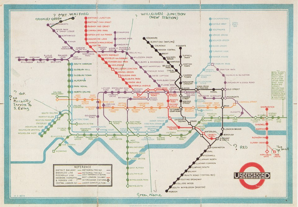 Transit Maps  Historical Map  Unpublished Proof Of H C