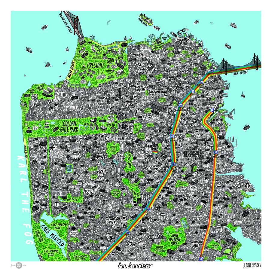 Transit Maps Illustration San Francisco By Jenni Sparks
