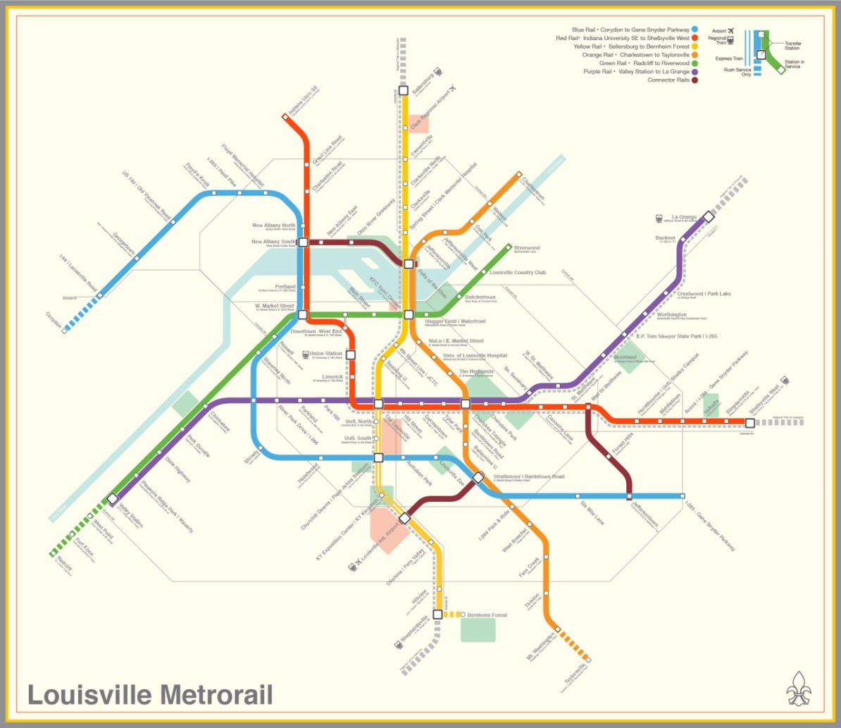 Transit Maps: Submission – Fantasy Map: Louisville, Kentucky ...