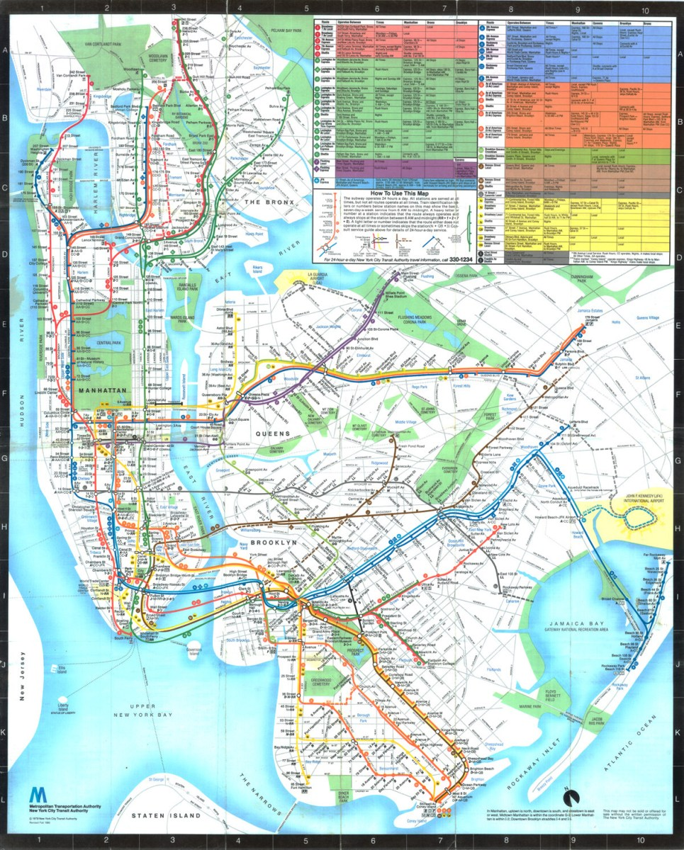 Transit Maps  Submission  U2013 Historical Map  1979 New York
