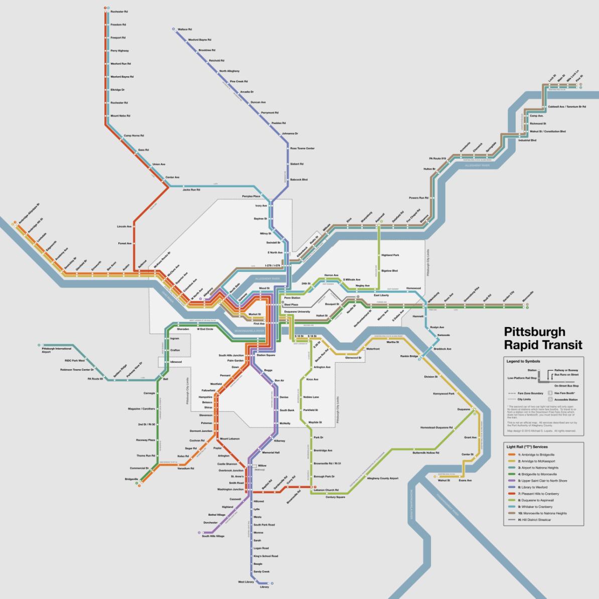 Pittaburgh Subway Map.Transit Maps Submission Fantasy Future Map Pittsburgh Rapid