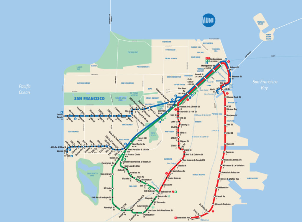Map Of New York Rail System.Transit Maps Fantasy Map San Francisco Muni Metro In The Style Of