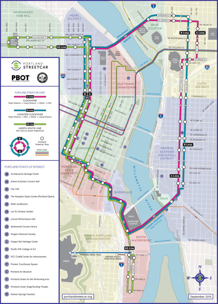 Transit Maps: Official Map: Portland Streetcar, 2015