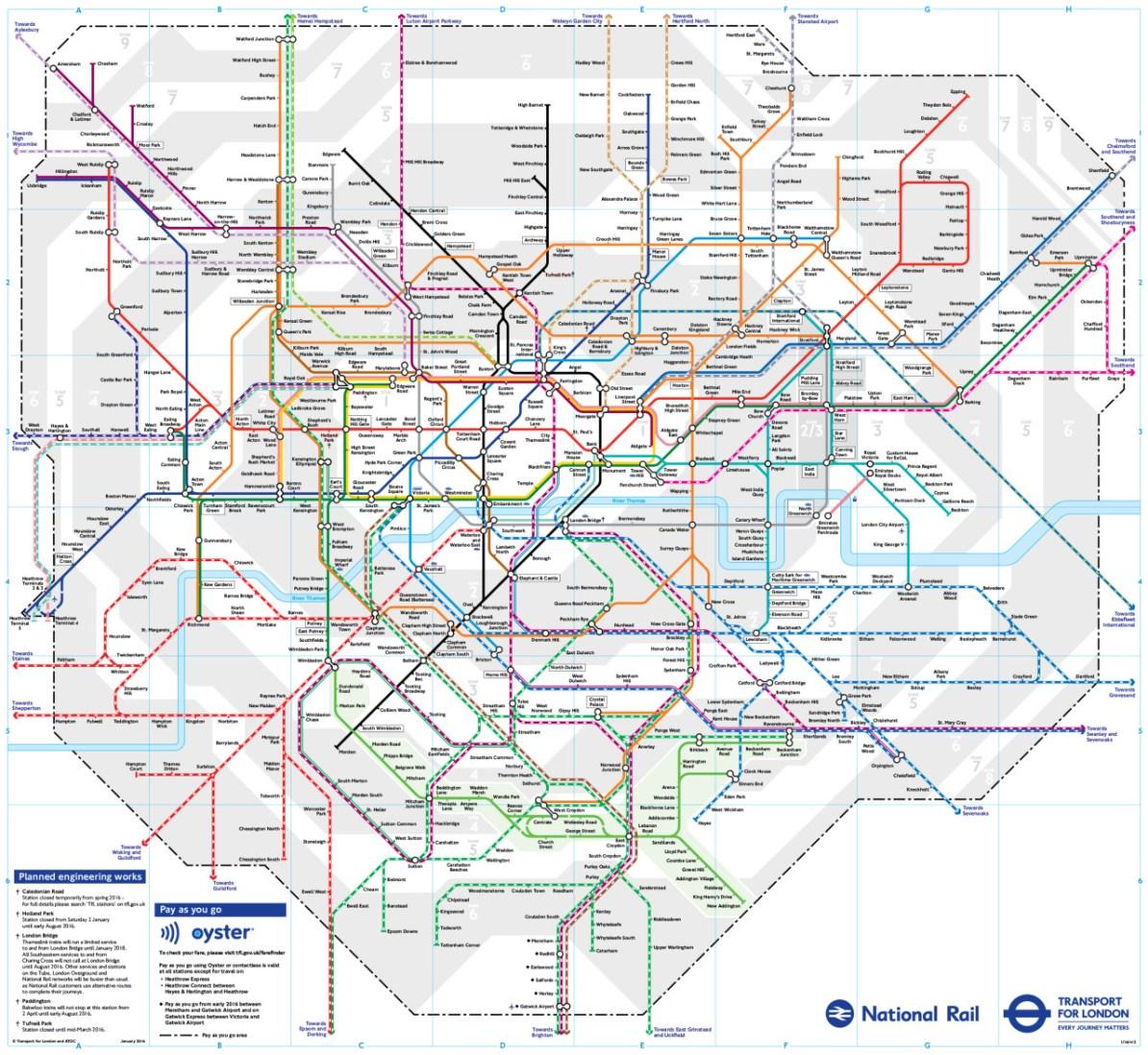 London Transit Map Transit Maps: Europe