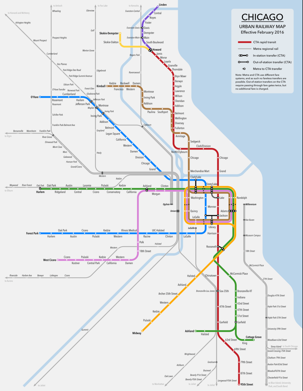 Transit Maps: Submission – Unofficial Map: Chicago Urban Rail by ...