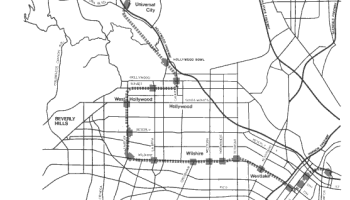 Red Line Los Angeles Subway Map.Transit Maps Historical Map Opening Of The Los Angeles Metro Red