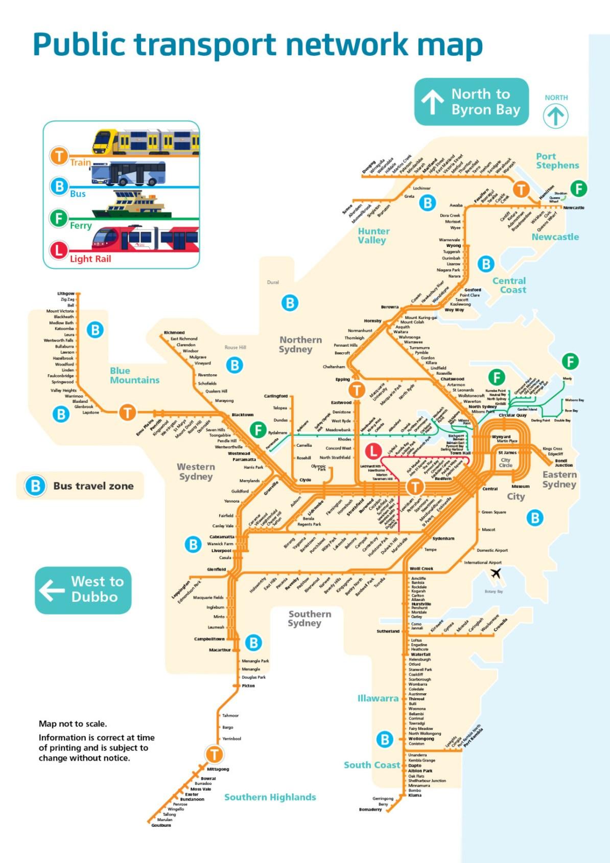 Map Sydney Australia.Transit Maps Cancelled Official Map Public Transport