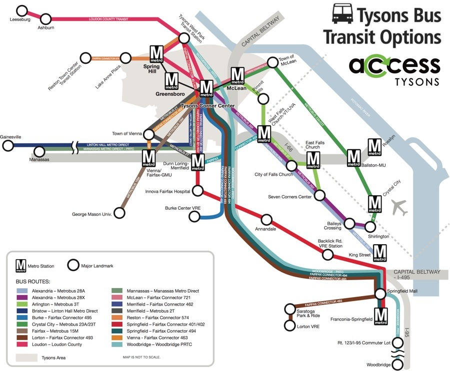 tysons corner metro map Transit Maps Submission Official Map Tysons Corner Virginia
